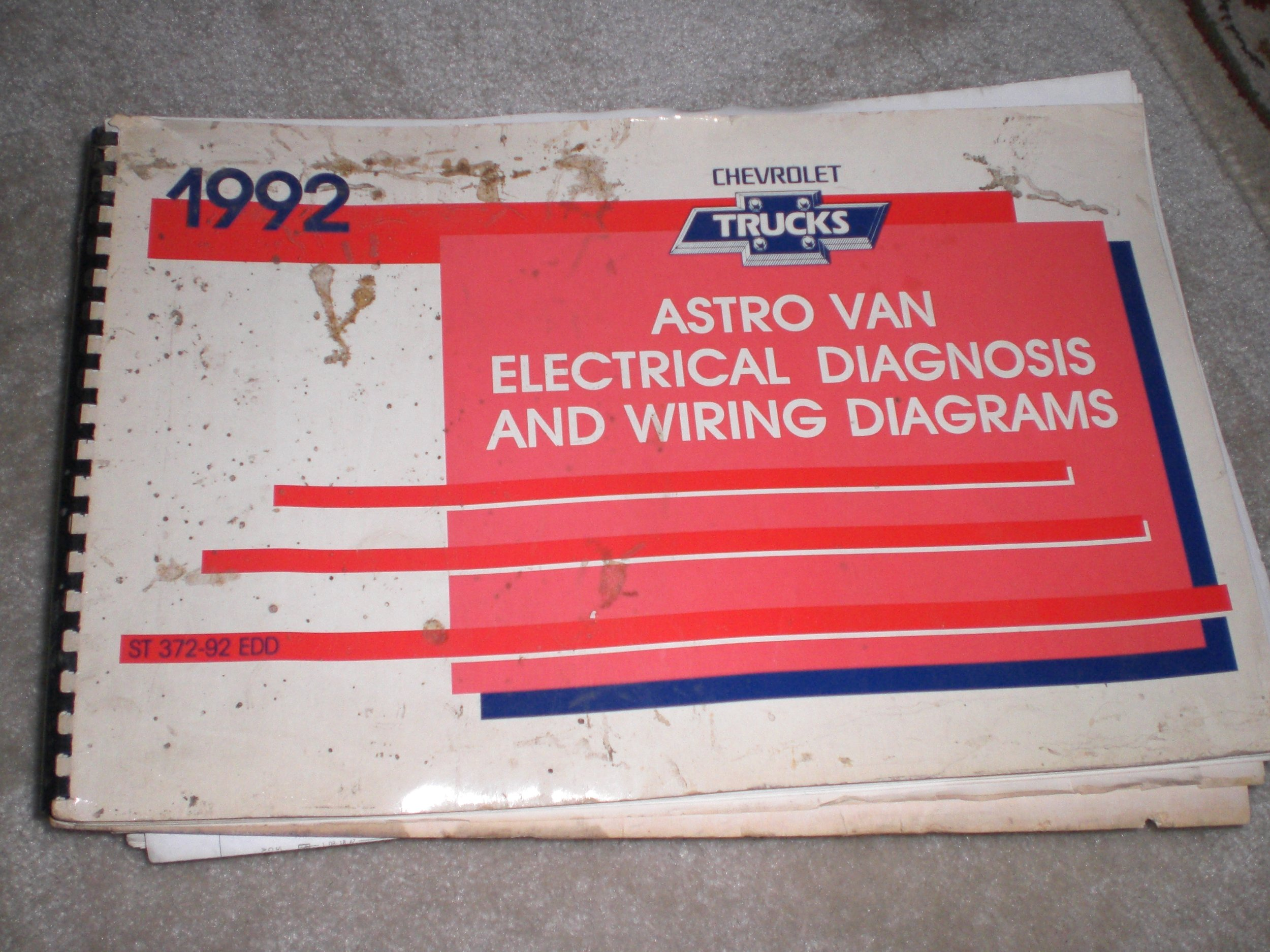 1992 astro van electrical diagnosis and wiring diagrams chevrolet Chevy Astro Van Wiring Diagram