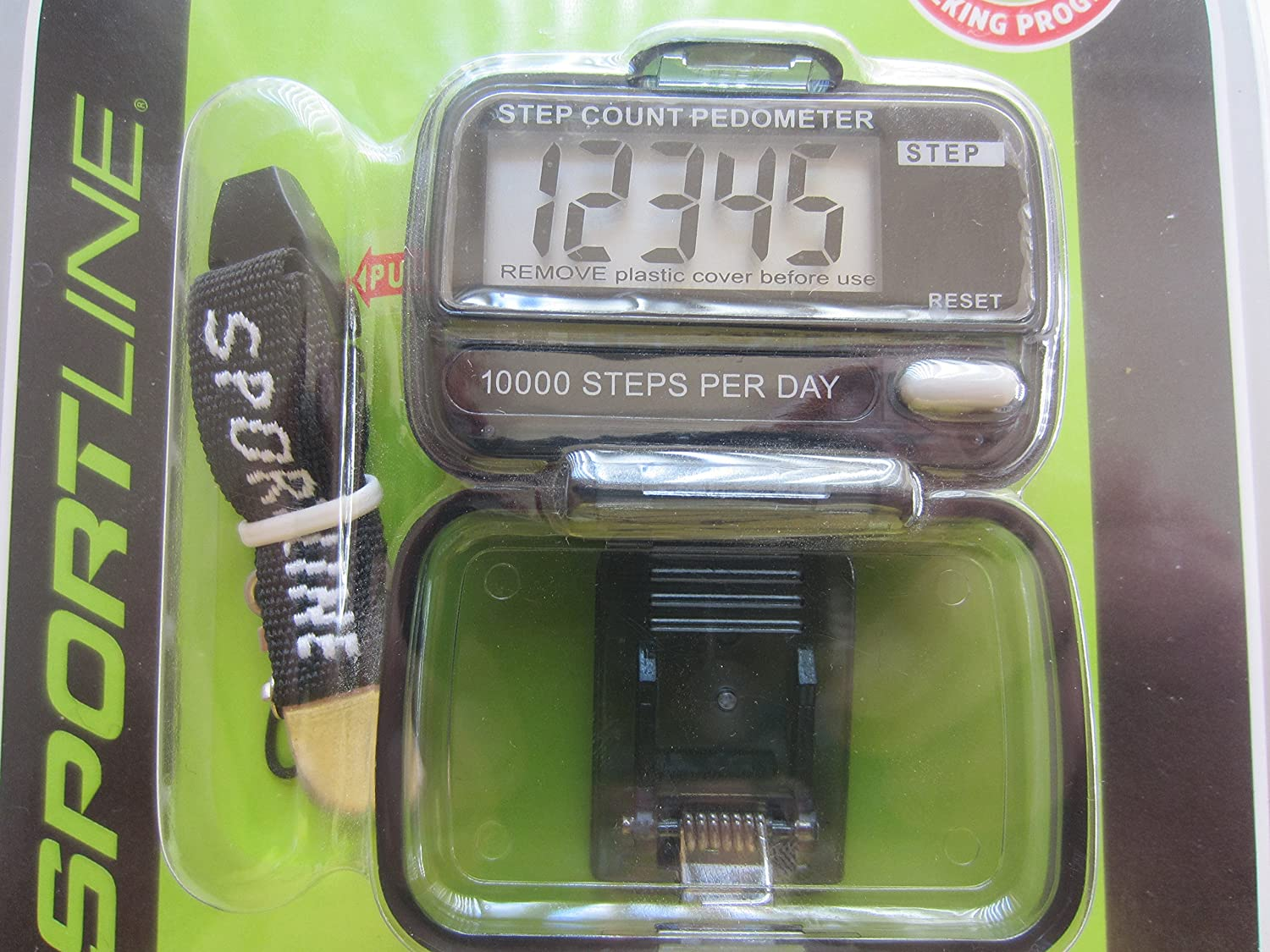 Sportline Step Counting Pedometer Walk Run Collection 10,000 Steps//Day Model # TG2793BK