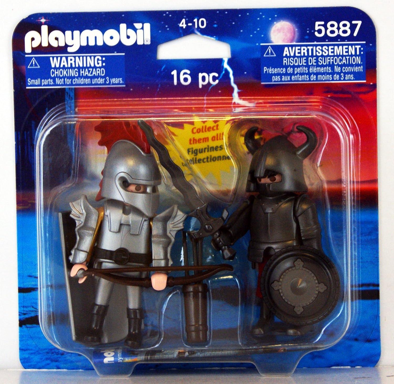 Playmobil 5887 Knights Knights duo pack 16 pc by PLAYMOBIL®: Amazon.es: Juguetes y juegos