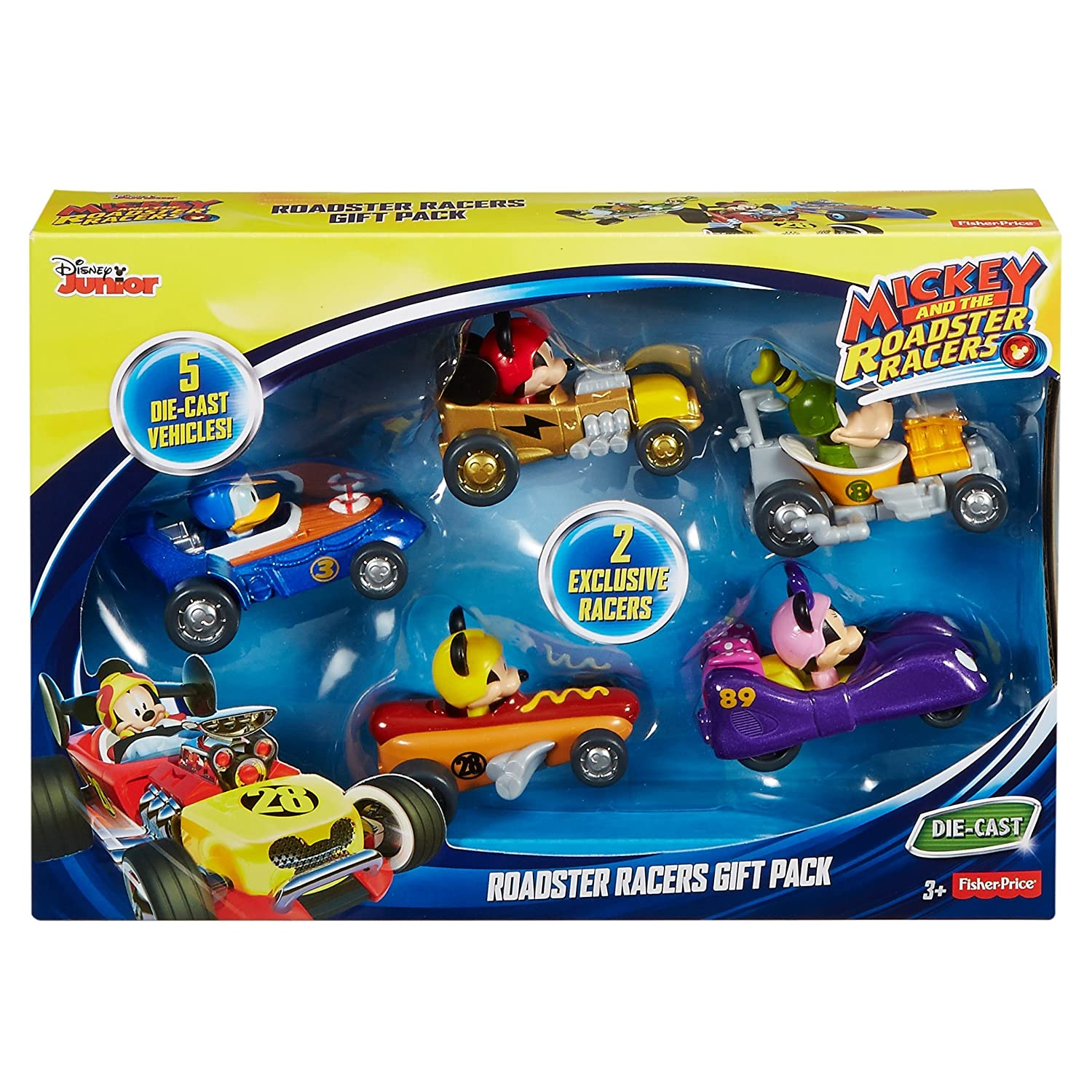 Amazon.com: Fisher-Price Disney Mickey and The Roadster Racers Vehicles Gift Pack: Toys & Games