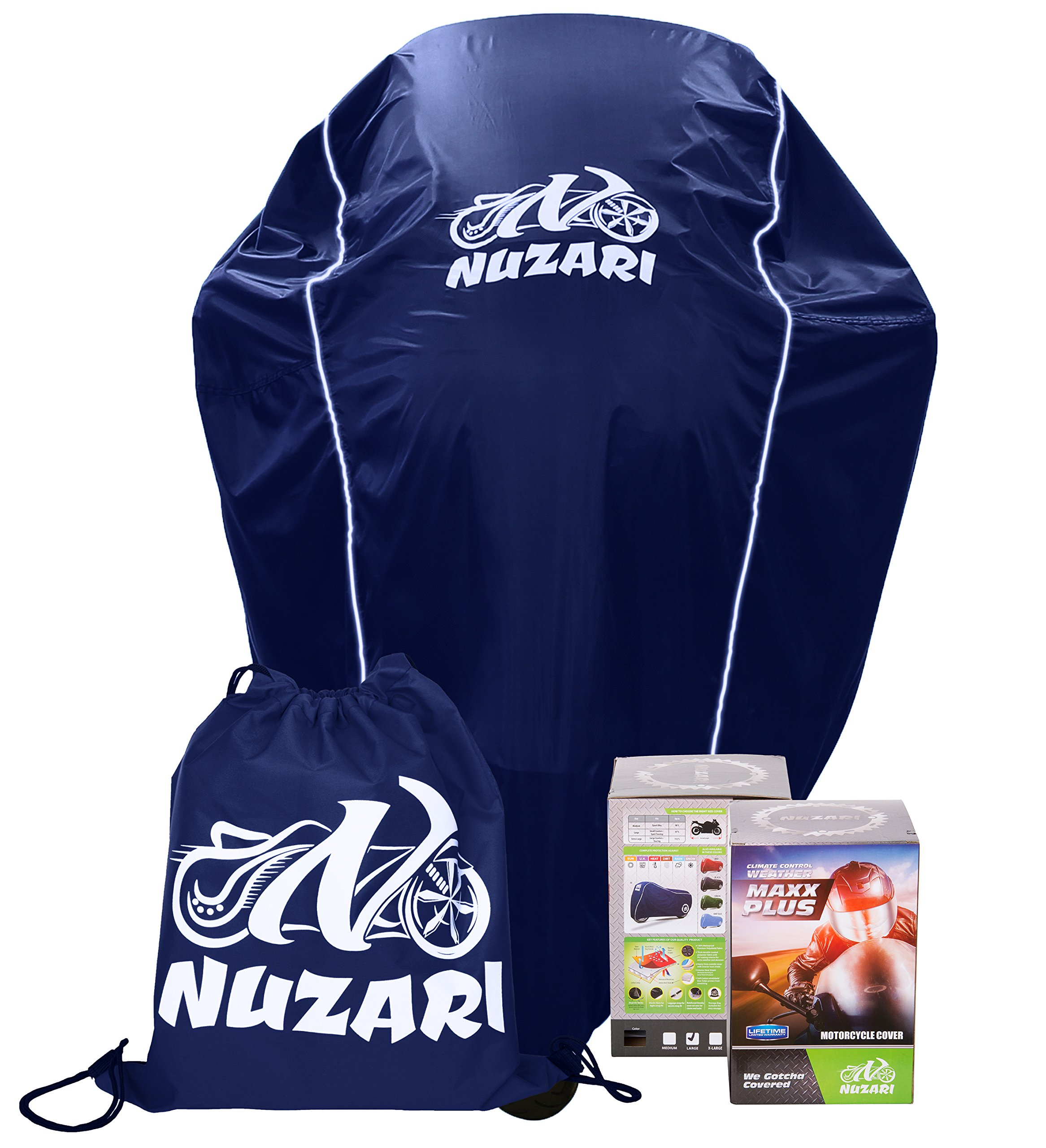 dcba4a23ef16 Amazon.com  Nuzari Waterproof Polyester Outdoor Motorcycle Cover ...