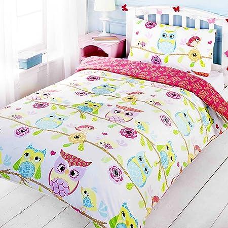 sets and floral owl single kids mizone cotton pillowcase family cute percale printing scm bedding ttw set duvet cover dp animal
