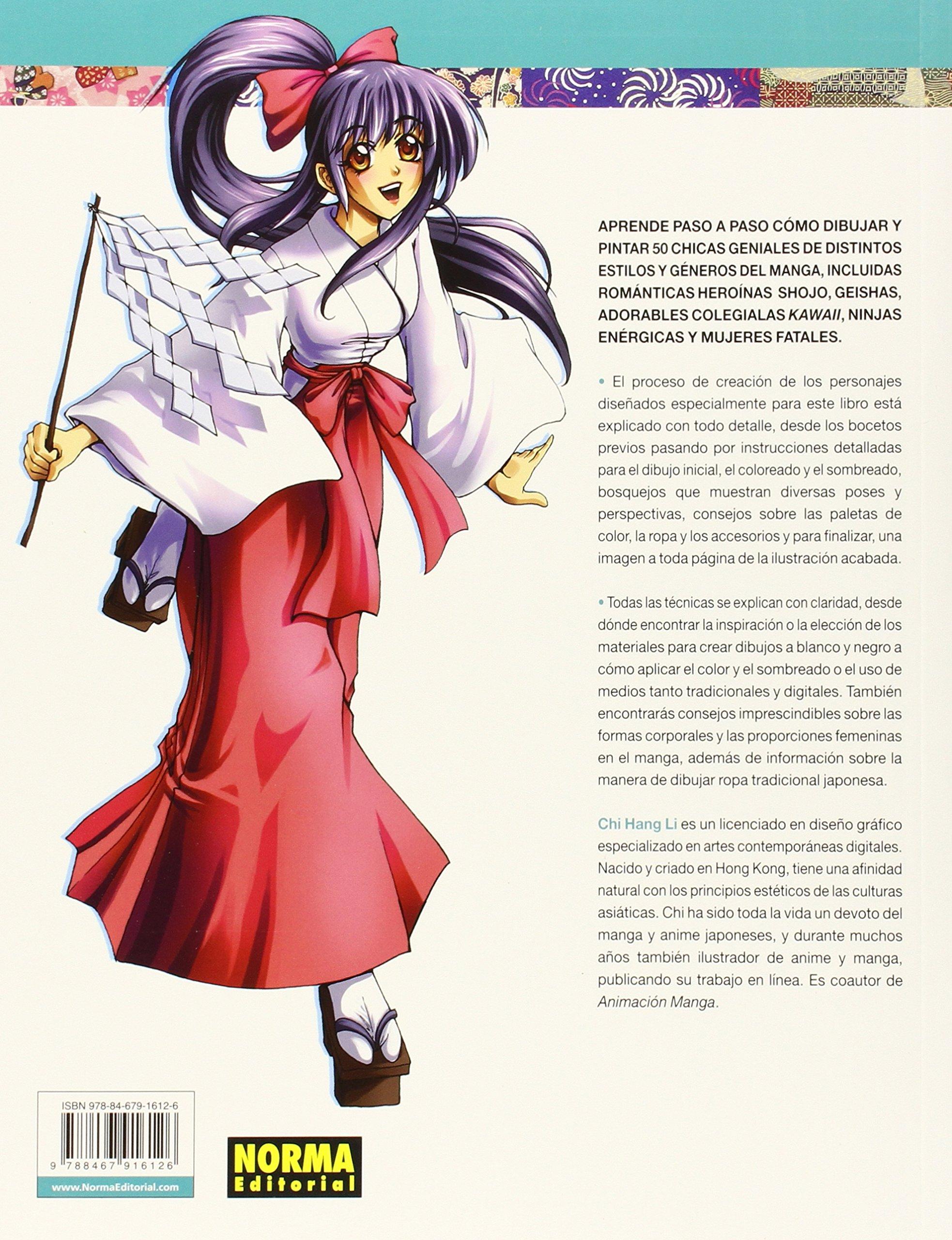 50 CHICAS MANGA PARA DIBUJAR Y PINTAR (Manga (norma ...