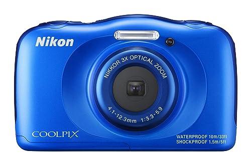 NikonデジタルカメラS33防水1317万画素S33ブルーS33BL