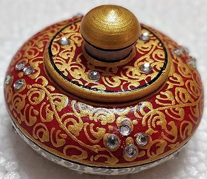 Saudeep India Trading Corporation Handmade Marble Decorative Kumkum Box Showpiece Gifts