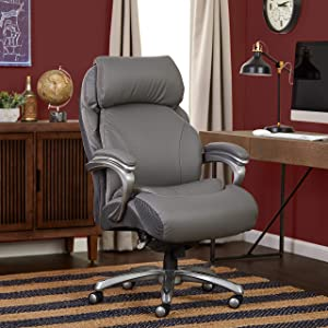 Serta Big & Tall Executive Office Chair, Gray