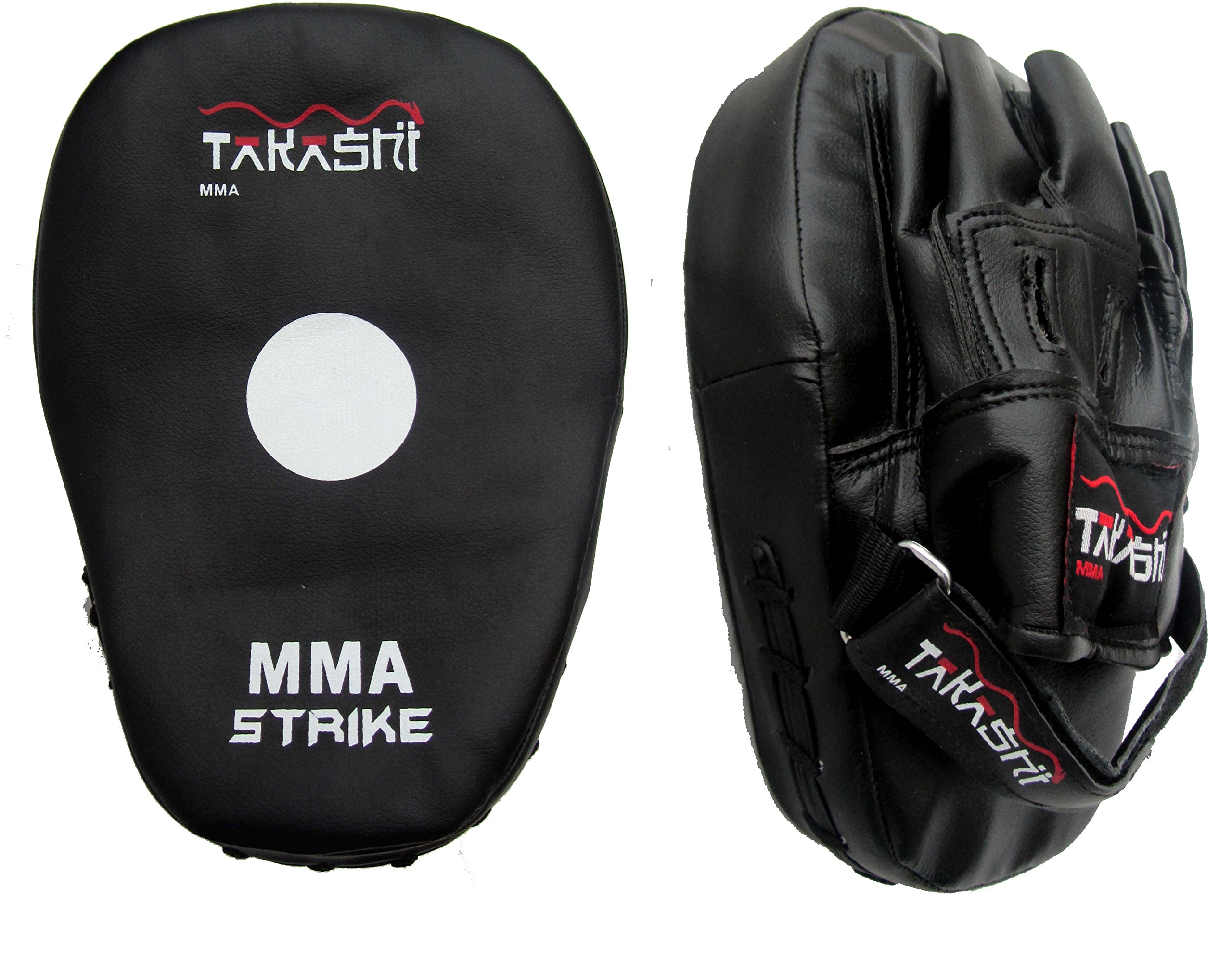 MMA Punch Mitts, Focus Pads Pads TAKASHI 1 Pair (Curved Pads) Karate, Kempo, Taekwondo Strike targets by Takashi