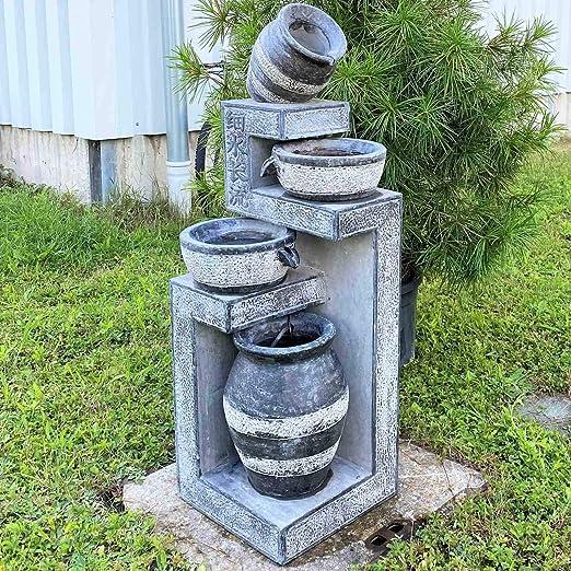 Asien Lifestyle - Fuente para jardín (125 cm), piedra natural: Amazon.es: Hogar