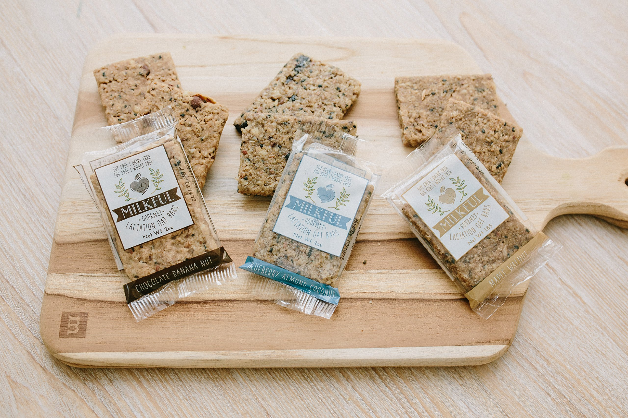 MILKFUL Lactation Bars- Wholesome Alternative to Lactation Cookies for Breastfeeding Moms. Helps Boost Breast Milk Supply.12 Bars. Dairy Free, Egg Free, Soy Free, Wheat Free (Blueberry Almond Coconut) by MILKFUL  (Image #5)
