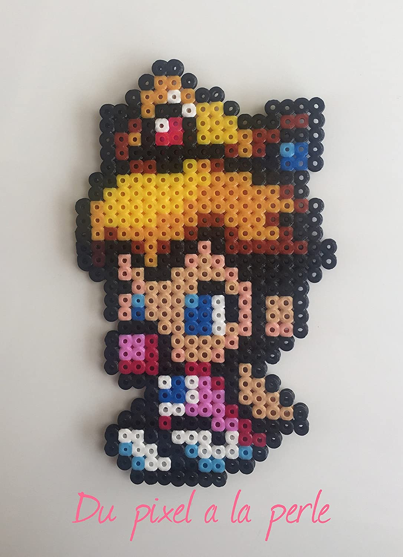 Bébé Princesse Peach En Perles Hamamagnet Pixel Art Perler