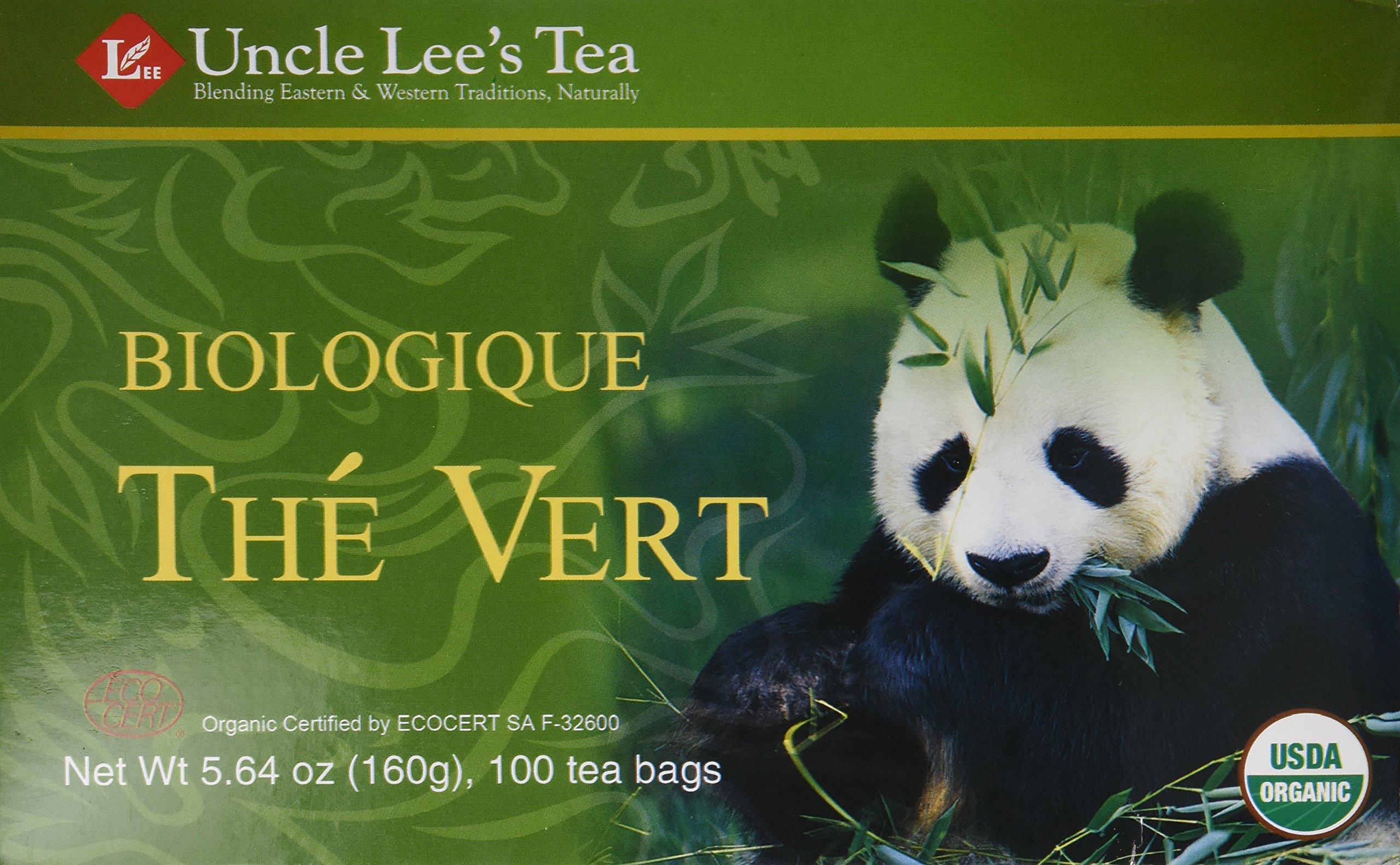 Uncle Lee's Organic Green Tea -- 100 Tea Bags net wt 5.64 oz (160g) - (Pack of 2)