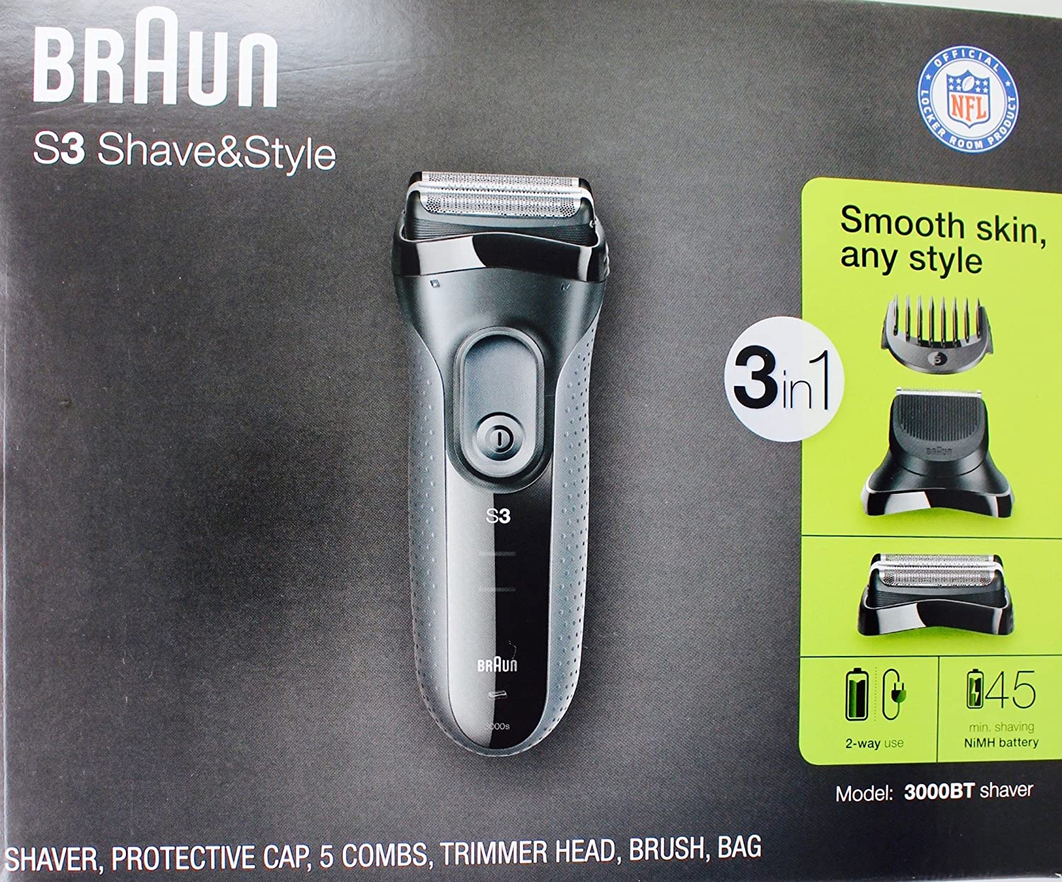 Braun 3-in-1 Shaver S3, Model 3000BT