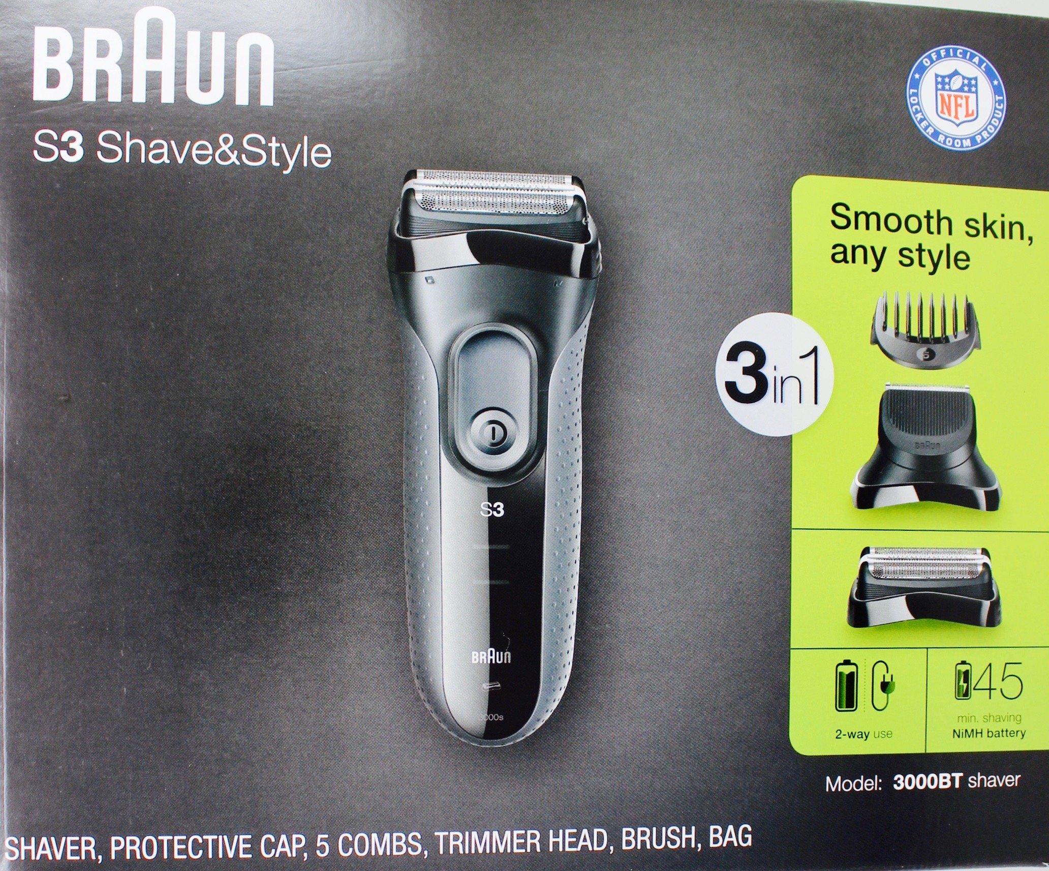 Braun 3-in-1 Shaver S3, Model 3000BT