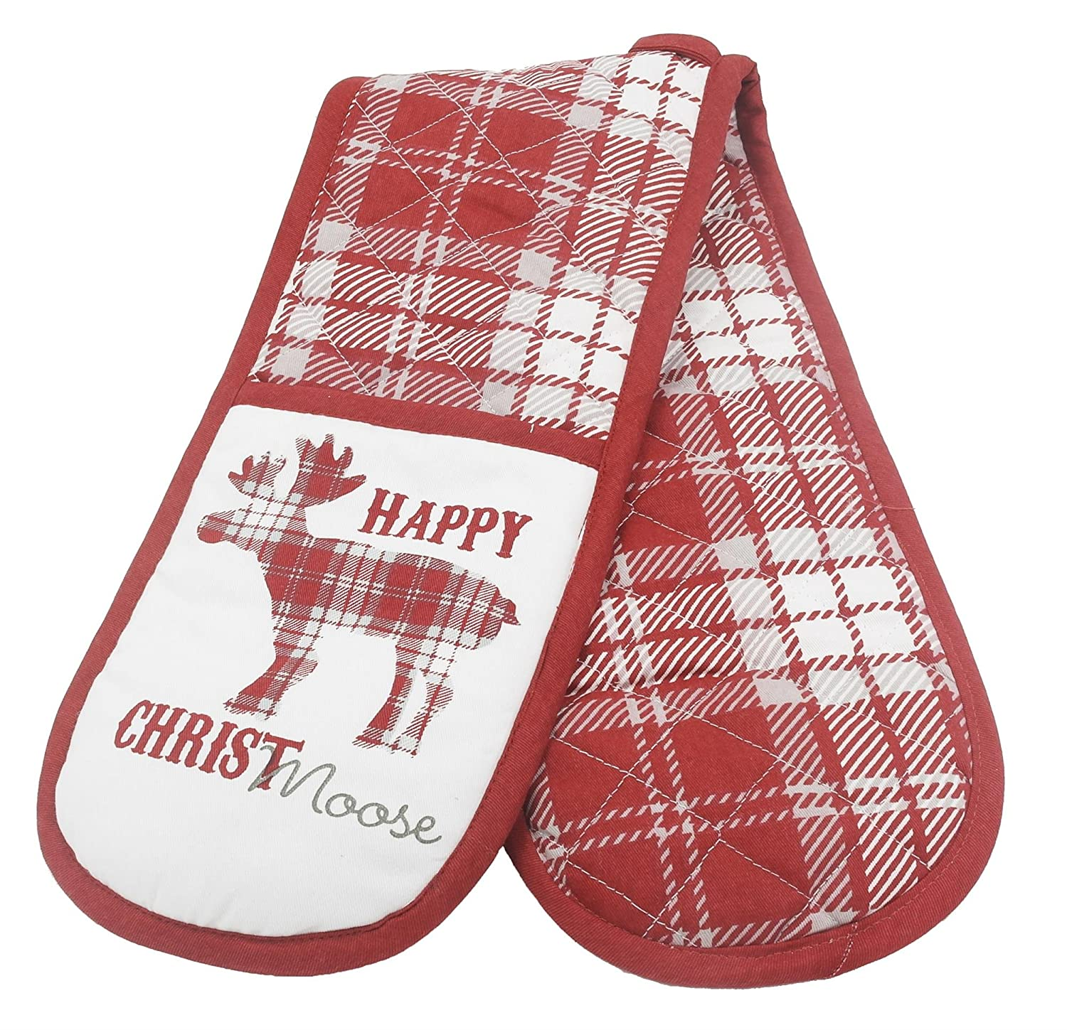 Happy Christmoose Double Oven Glove Beamfeature