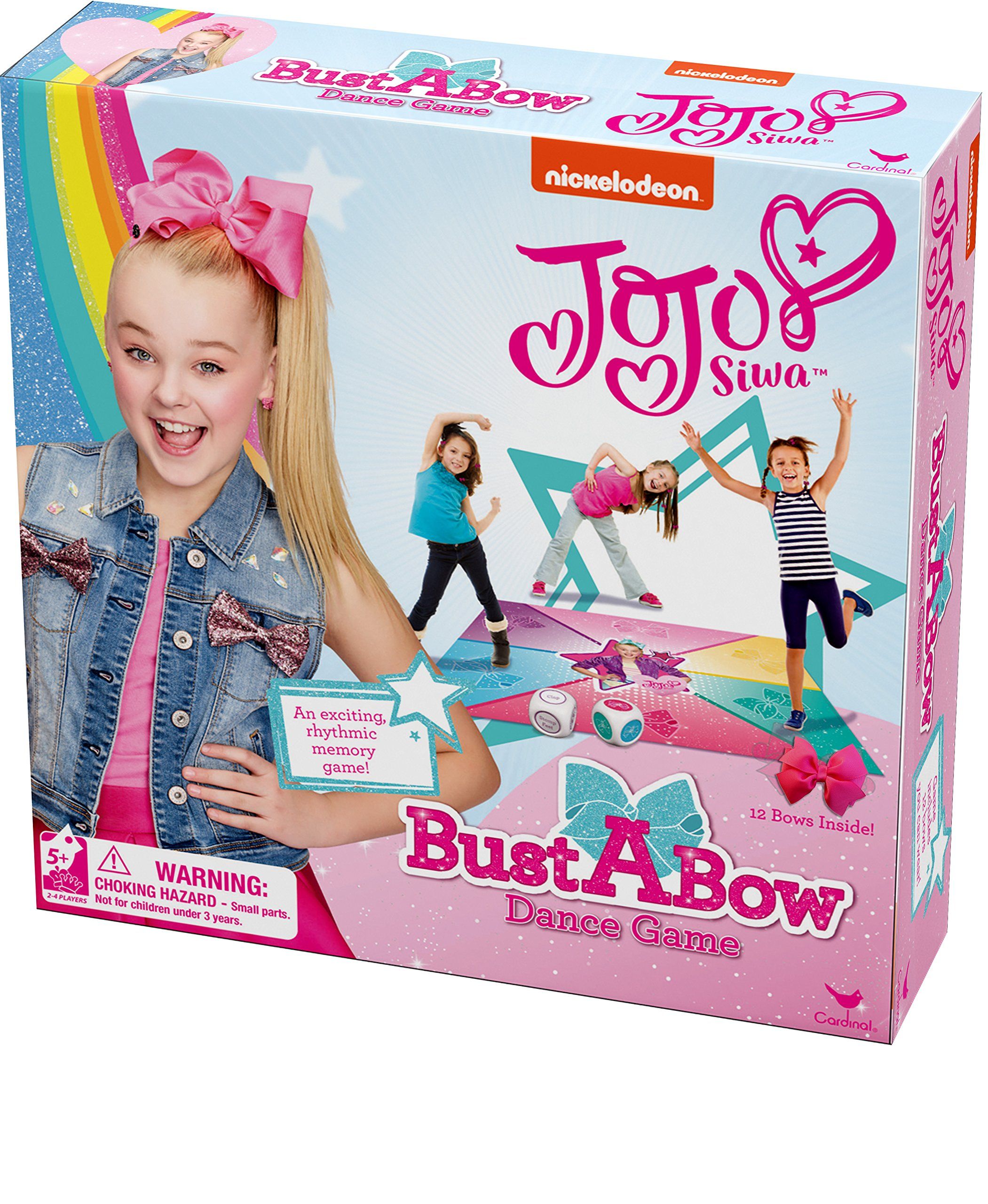 bf11ccfe70722 Amazon.com  Cardinal Games JoJo Siwa Bust A Bow Dance Action Game  Toys    Games