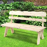 Miadomodo Panchina panca da giardino esterno di legno 3 posti