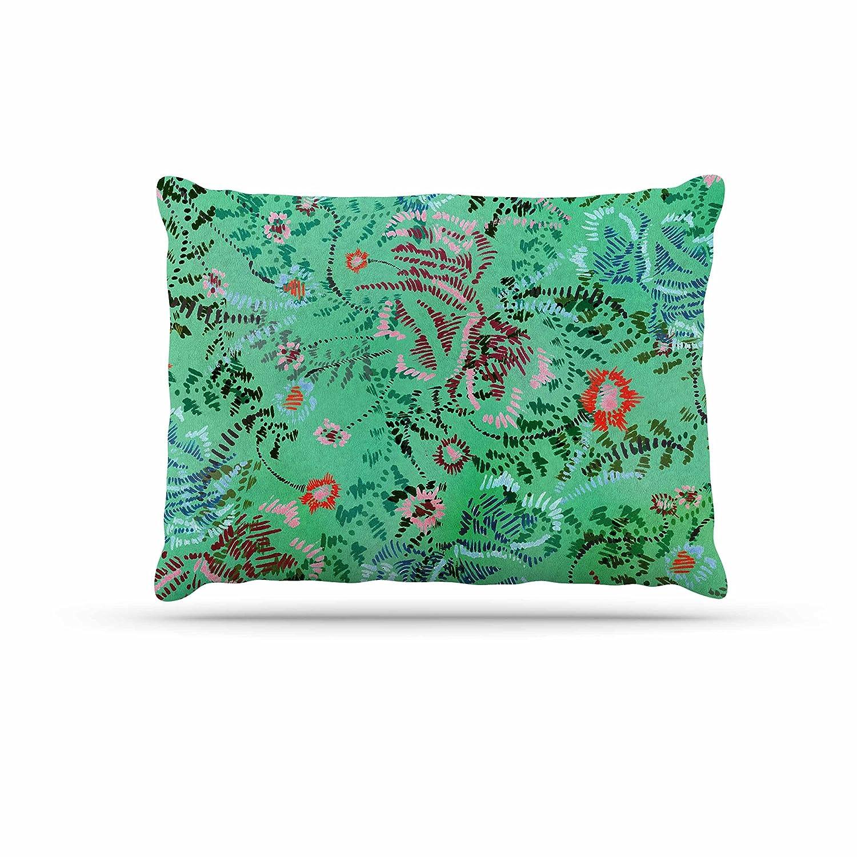 KESS InHouse Fernanda Sternieri African Romance in Green Floral Dog Bed, 30  x 40