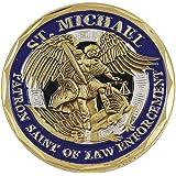 Police Officer St Michael Law Enforcement Challenge Coin Blue Enamel (Value Pack)