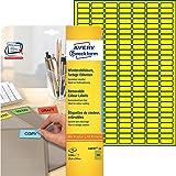 Avery Zweckform L6037-20 Farbige Etiketten (A4, 3.780 Stück, 25,4 x 10 mm) 20 Blatt gelb