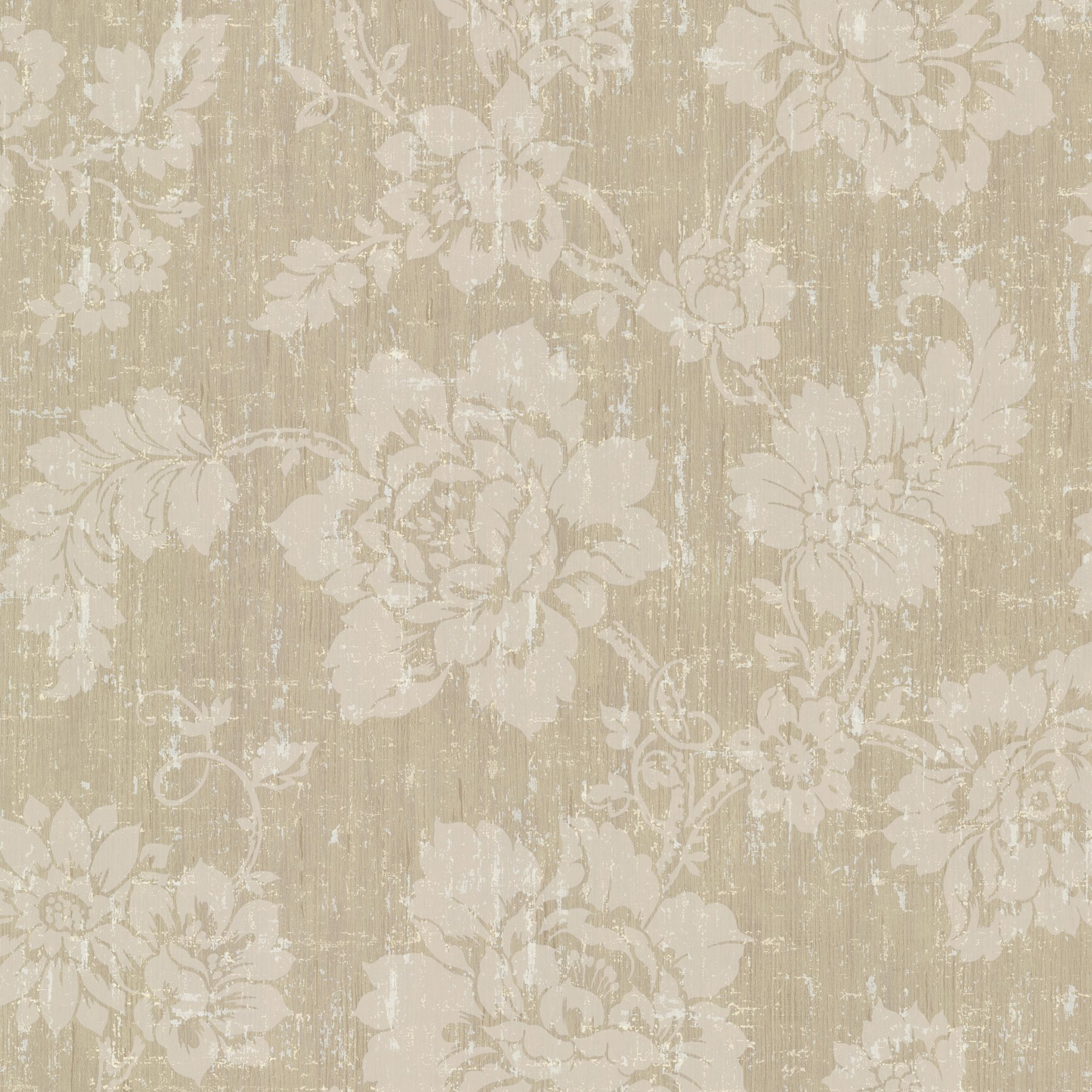 Kenneth James 672-20053 Giardina Floral Trail Wallpaper, Bronze by Kenneth James