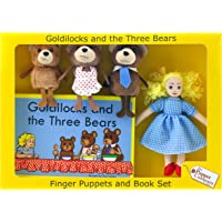 The Puppet Company - Traditional Story Sets - Goldilocks & the Three Bears Finger Puppet Set
