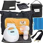 Zohzo Lauren Breast Pump Bag + Breastmilk Cooler + Ice Pack