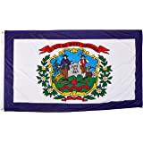 Online Stores West Virginia Superknit Polyester Flag, 3 by 5-Feet