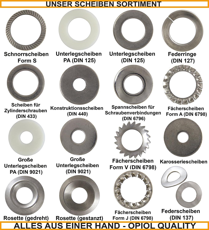OPIOL QUALITY 5 St/ück Federstecker einfach 5x82 mm Feder-Splinte Edelstahl A2 Clip Pin Federsplinte Spring Verschluss | Federvorstecker