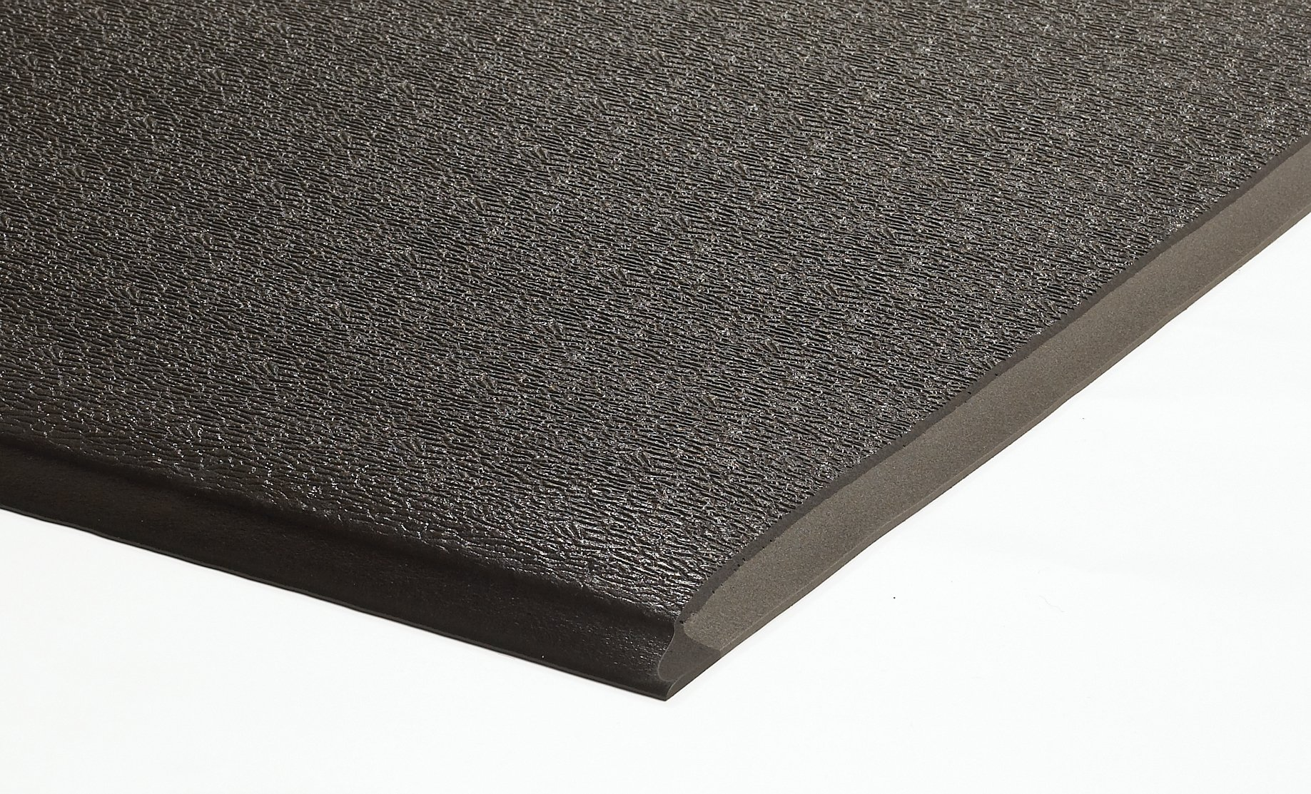 M+A Matting 911 Charcoal PVC Foam Sure Cushion Heavy Duty Anti-Fatigue Mat, 3' Length x 2' Width x 1/2'' Thick, For Dry Area