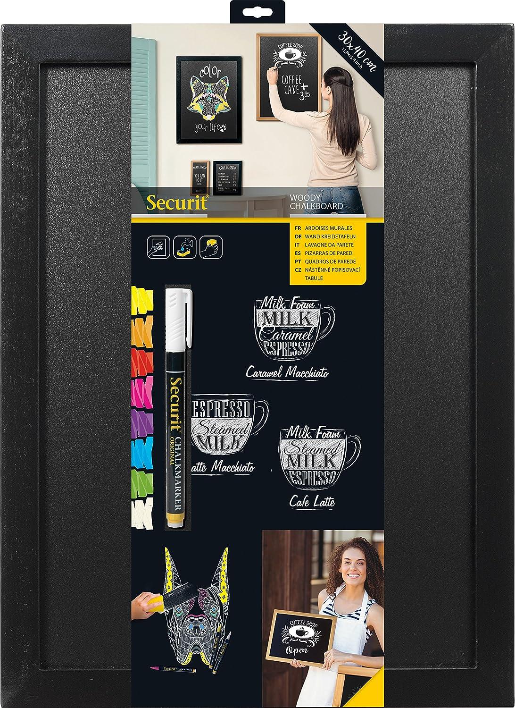 Amazon.com: Securit Woody 30x40cm Wall Chalk Board- Black by ...
