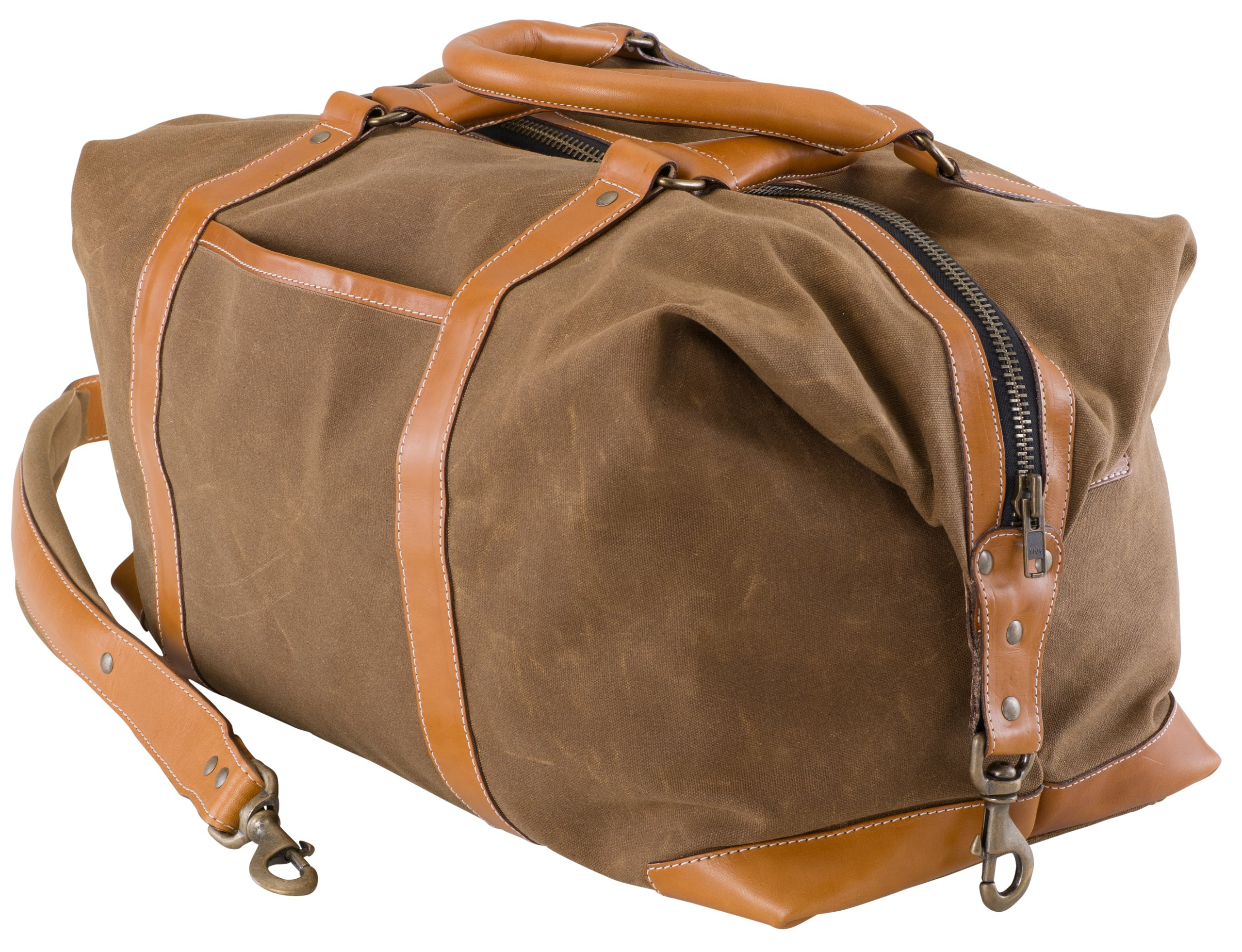 BELDING American Collection Satchel Duffle Bag, Tan by BELDING (Image #3)