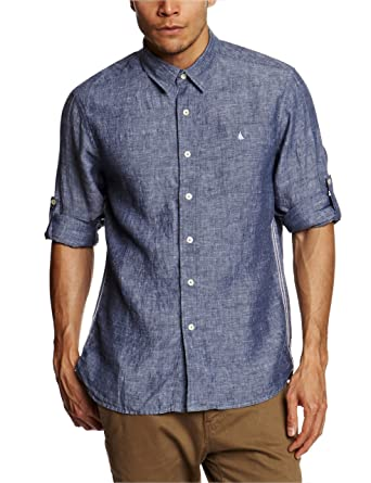 9eb83323 Musto Twist Linen Men's Shirt Han Blue XX-Large: Amazon.co.uk: Clothing