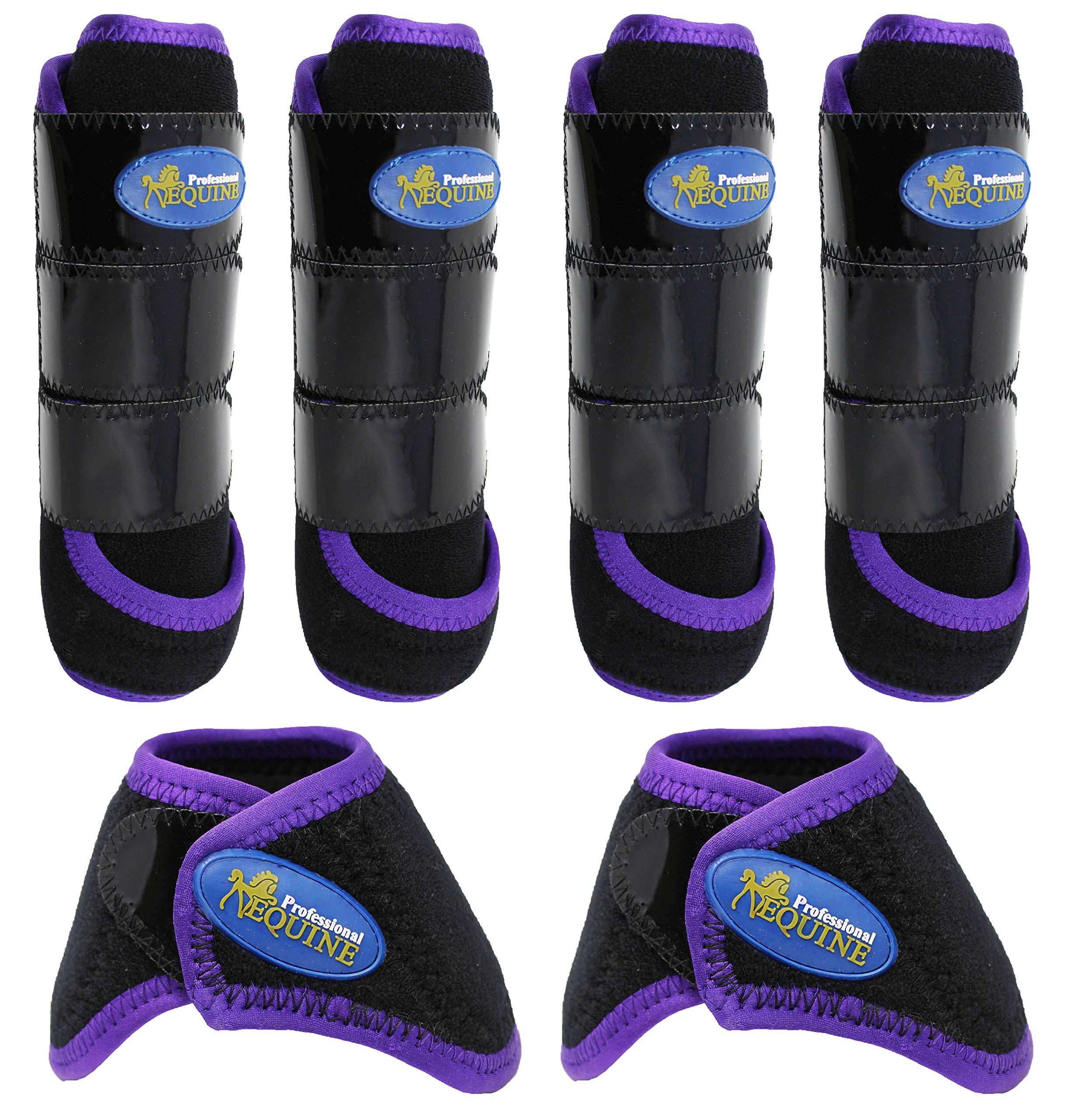 Professional Equine Horse Medium 4-Pack Sports Medicine Splint Bell Boots 4166D
