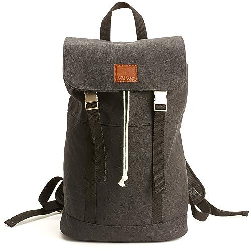 Canvas Backpack Men Amp Women Anthracite Black Johnny