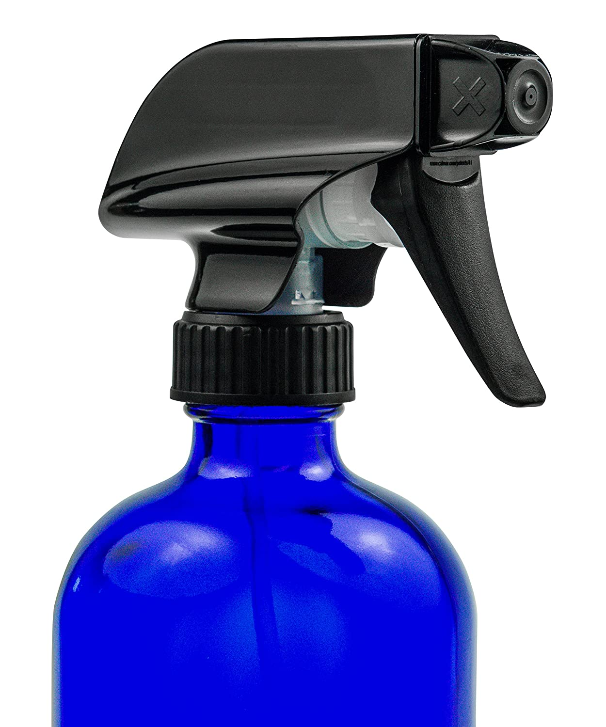 Amazon.com: Botella de spray de cristal azul – Gran ...