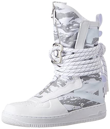 Nike SF Air Force 1 High Top Premium Mens Boots White/White/White aa1130