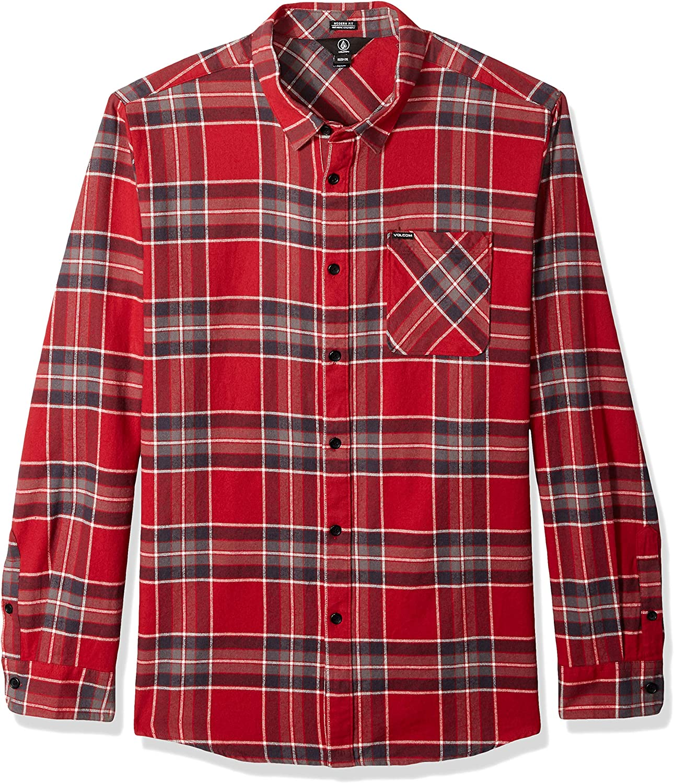 Volcom Mens Caden Flannel Plaid Long Sleeve Shirt - Camisa Hombre: Amazon.es: Ropa y accesorios