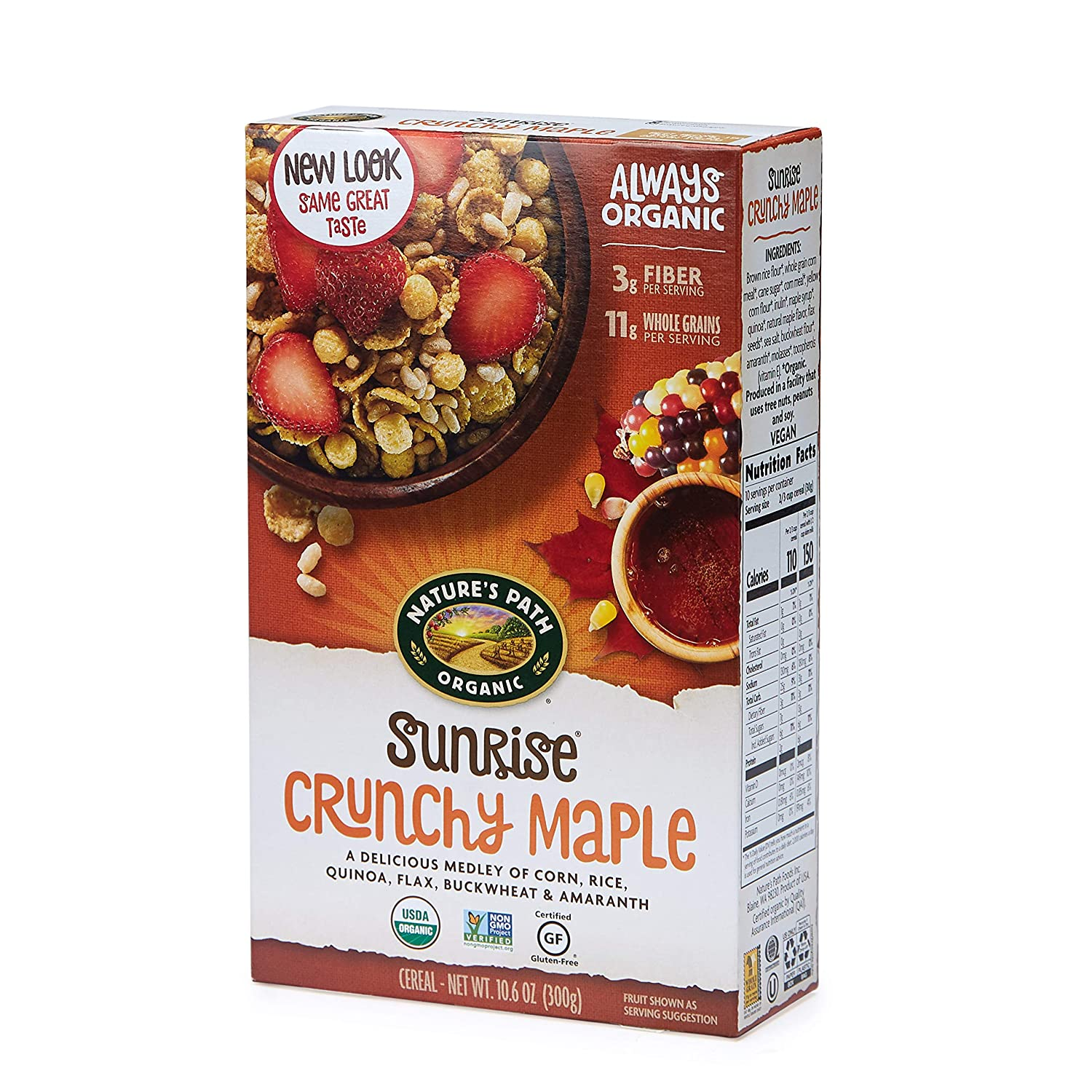 The Nature's Path Sunrise Crunchy Maple Cereal travel product recommended by Sophia Rose Webster on Pretty Progressive.