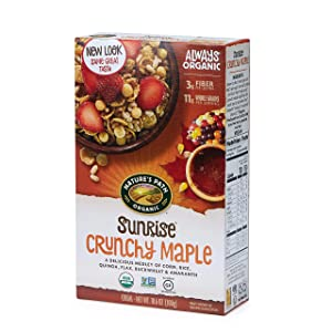 Nature's Path Sunrise Crunchy Maple Cereal, Healthy, Organic, Gluten-Free, 10.6 Ounce Box