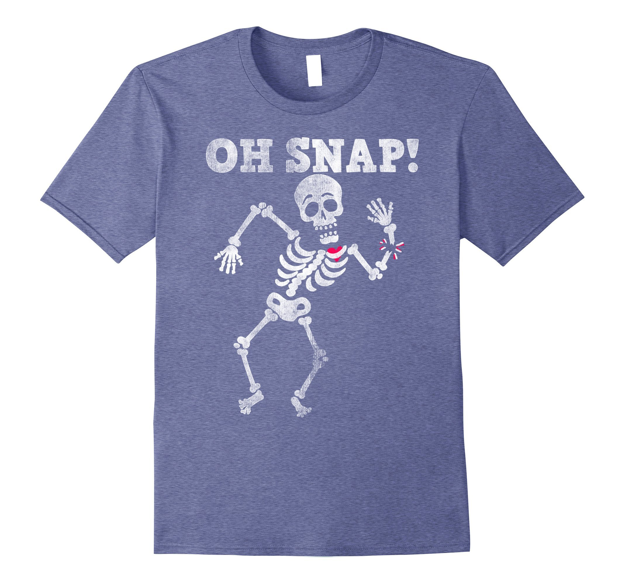 Cover Your Body With Amazing Halloween Oh Snap Skeleton Broken Bones Graphic T Shirt