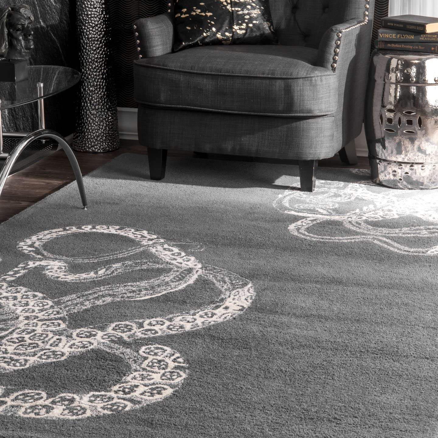 nuLOOM Octopus Tail Abstract Wool Area Rug