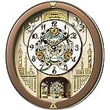 セイコー クロック 掛け時計 電波 アナログ からくり 30曲 メロディ 回転飾り 茶 メタリック RE573B SEIKO