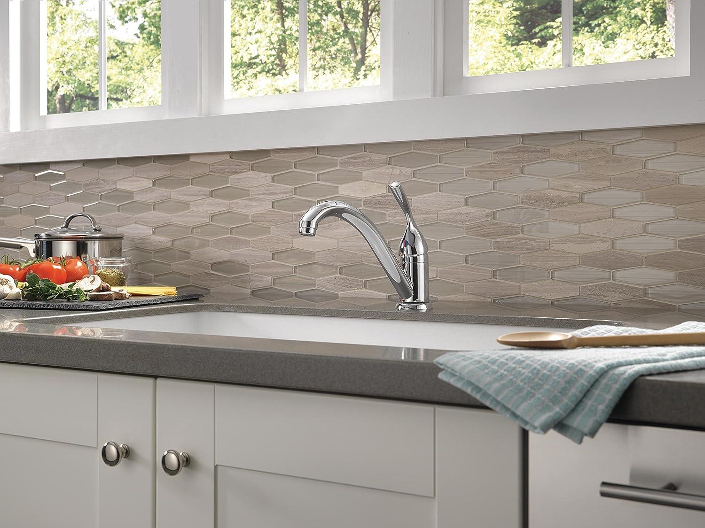 Delta 101-DST Classic Single-Handle Kitchen Faucet, Chrome - Touch ...
