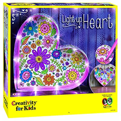 Creativity for Kids Light Up Heart Marquee Craft Kit: Toys & Games