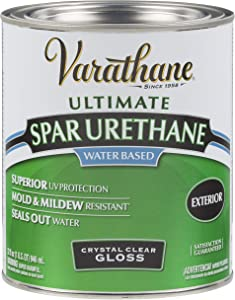 Rust-Oleum 250041H Ultimate Spar Urethane Water Based, Quart, Gloss Finish