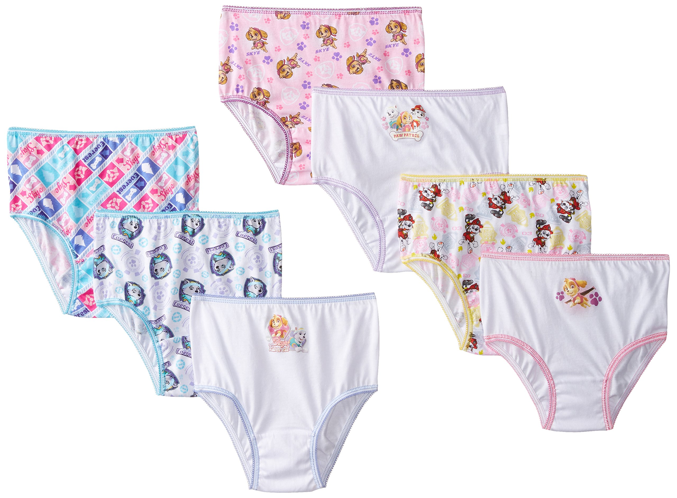 Nickelodeon Girls' Paw Patrol Underwear Briefs - 4T - Assorted (Pack of 7)