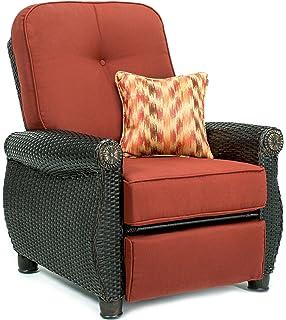 La Z Boy Outdoor Breckenridge Resin Wicker Patio Furniture Recliner (Brick  Red)