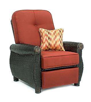 La Z Boy Outdoor Breckenridge Resin Wicker Patio Furniture Recliner (Brick  Red) Part 75