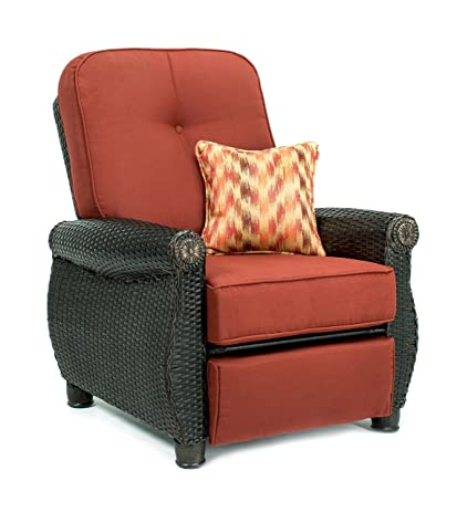 La-Z-Boy Outdoor Breckenridge Resin Wicker Patio Furniture Recliner (Brick Red)  sc 1 st  Amazon.com : la z boy recliner chairs - islam-shia.org