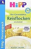Hipp Bio Schmelzende Reisflocken, glutenfrei, 4er Pack (4 x 350 g)